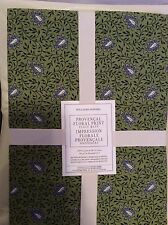 Williams Sonoma Four 4 Provencal Floral Print Placemats Green NWT  100% Cotton