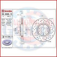 BREMBO 09.9369.1X 2X COPPIA DISCHI FRENO XTRA per OPEL ASTRA H TwinTop (L67)