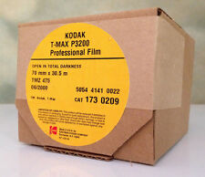 KODAK 70mm x 100ft T-MAX P3200 B&W BULK FILM! NEW TMAX PRO BACK ISO FREEZER KEPT