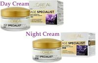 L'OREAL Age Specialist 55+ Anti-Aging DAY or NIGHT Cream  Hydrates Skin 50ml