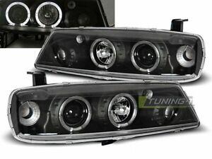 Faróis for Opel Calibra 90-97 Angel Eyes Preto Frete Grátis AU LPOP07 XINO AU
