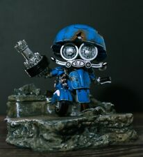 WEI JIANG Black Apple Sqweeks Blue Iron for Small Steel Cap Motorcycle Robot Toy