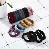 20X Seamless Elastic Girl Hair Ties Band Ropes Ring Ponytail Holder Scrunchie