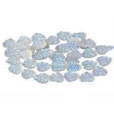 HOT 10mm 100Pcs/bag Charms Silver Heart Shape Faced Flat Back Resin Beads DIY