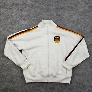 Janmarino Mens Large Racing Soccer Germany Deutschland Striped White Jacket