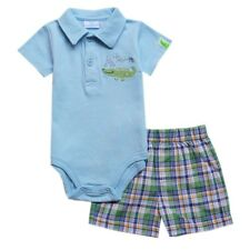 A is for Alligator 2-piece Bodysuit & Pull-On Short Set, Size: 0-3 months