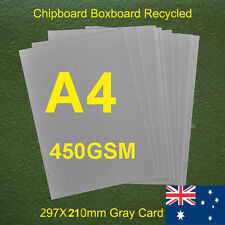 16 X A4 Chipboard Boxboard Cardboard Recycled Gray Card 450gsm 0.82mm