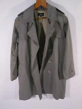 APC Men's 42 M L 100% Cotton Light Gray Double Breasted Trench Coat