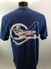 Vintage 90s Nautica Competition Spellout T-Shirt Mens XL Dual Sided Made In USA