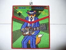 OA Wag O Shag Lodge 280,2012 NOAC,2,Two Part Set,Blues Fox,Potawatomi Council,WI