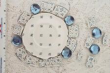 Broken China Plate Focal + Mosaic Tiles ~ Nikko China ~ Forget me Not ~ Blue ~
