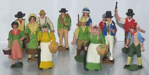 FF24 Lot of converted and repainted lead farm figures, Britains etc