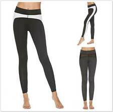Womens Mesh Contrast Yoga Fitness Tight Pants Gym Leggings High Waist SU