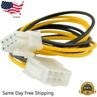 """8"""" 8-pin 12V Power Extension Cable Male to Female EPS P4 ATX Motherboard CPU"""