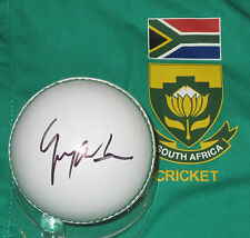 Gary Kirsten (South Africa)  signed white cricket ball +COA & Photo Proof