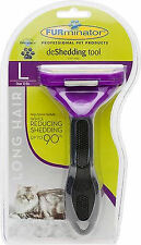 Genuine FURminator deShedding Tool Large Cats over 10 lbs with Long Hair Comb