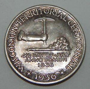 1936 Wisconsin Territorial Centennial Liberty Half Dollar