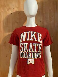 NIKE SKATEBOARDING Graphic Print Youth Unisex T-Shirt Tee Shirt M MD Medium Red