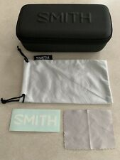 SMITH OPTICS EYE SUNGLASSES BLACK ZIPPER CASE, CLEANING CLOTH, STICKER BAG & BOX