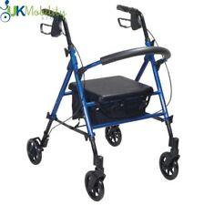 Rollator Lightweight Walking Frame 4 Wheel Walker Adjustable Seat Height