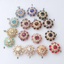 5Pc Mixed Diamante Rhinestone Shank Buttons for Sewing Scrapbooking Crafting DIY
