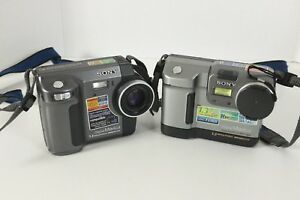 Lot 2 Sony Mavica MVC-FD88 MVC-FD85 1.3MP Digital Camera Untested Parts Repair