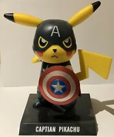Figurine Pokemon Pikachu Cosplay PVC Figure Marvel Comics Captain America Color