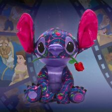 Disney Store Stitch Crashes Plush January Beauty And The Beast In Hand