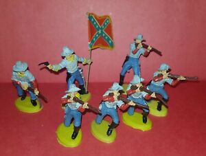 SOUTHERN ARMY Civil War Argentina BRITAINS 1970 Plastic Toy Soldiers Confederate