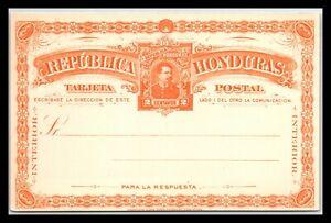 GP GOLDPATH: HONDURAS POSTAL CARD MINT _CV712_P18