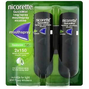 Nicorette QuickMist Duo1mg Mouthspray FreshMint 2x150 100% Trusted Seller