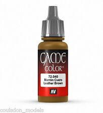 Vallejo Game Color 72.040 Leather Brown, 17ml Acrylic Fantasy / Wargaming Paint