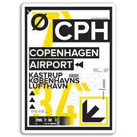 2 x 10cm Copenhagen Airport Vinyl Stickers - Cool Sticker Laptop Luggage #17154