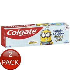 2 x COLGATE TOOTHPASTE KIDS 6+ YEARS MILD MINT GEL MINIONS CAVITY PROTECTION 90g