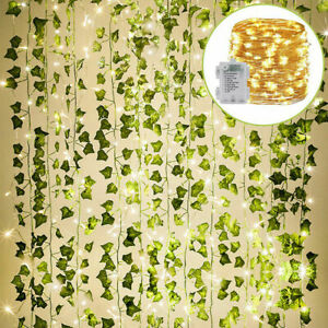2M/20LED Leaves Ivy Leaf Garland Fairy String Light Party Garden Home Decor Lamp