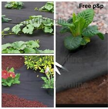 Weed Control Fabric Membrane Driveway Ground Cover Sheet Garden Landscape BB