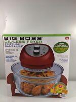 Big Boss Air Fryer 1300-Watt, 16-Quart, Red
