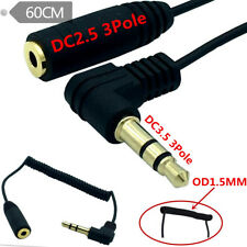 3.5mm Angled 3 Pole Male to 2.5mm Female Headphone Stereo Audio AUX Coiled Cable