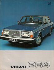Volvo 264 1976-77 UK Market Leaflet Sales Brochure DL GLE 260-Series