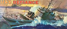U.S.S. DEFIANCE PG-95, 1/131, REVELL Kit No. H-435, 100% Part Count, 1972