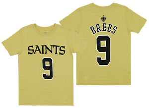 Outerstuff NFL Youth  New Orleans Saints Drew Brees #9 Player Tee