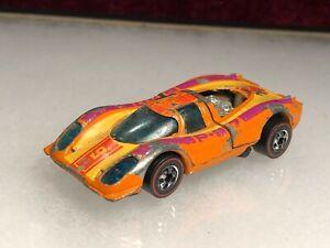 Original 1976 Hot Wheels Redline Porsche P 917 Orange Hong Kong Plastic Bottom
