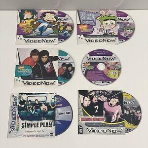VIDEO NOW - Lot Of Six (6) Discs - SpongeBob Rugrats Fairly Odd Parents