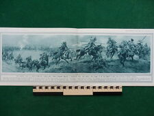 1914 RUSSIAN COSSACK LAVA CAVALRY CHARGE WWI WW1 (DOUBLE PAGE)