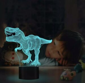 Dinosaur Toys 3D Night Light with Remote Control,16 Color Decor Desk Table Lamp
