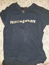 Rocawear Womens Medium M Graphic Black Shirt Top Blouse