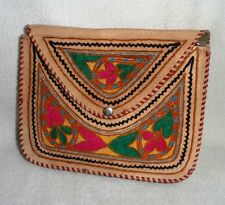 New Handicraft Embroidery Work Genuine Leather Long Strap Shoulder Bag Hobo Bag