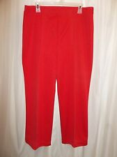 COUNTRY CRAFT Red Knit Casual Pants Women's Size LARGE
