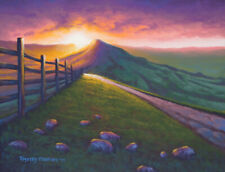 Original Acrylic Painting Mountain Dawn 11x14 Landscape by Timothy Stanford