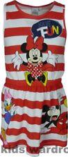 Robes rouge pour fille de 2 à 16 ans en 100% coton, taille 6 - 7 ans